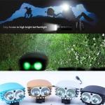 ไฟฉายเอนกประสงค์ ไฟเลด YPD 2 x Cree XM-L U2 LED 4000lm 4-Mode Cool White Bicycle Light