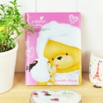 Cream MOMO Schedule Diary (Pink)