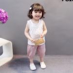 ชุดเซตเด็กกางเกงสีชมพู [size 6m-1y-2y-3y]