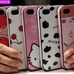 Case iPhone 4s / 4 เคสซิลิโคน TPU ด้านในนิ่ม ด้านนอกเงาๆ หุ้มขอบอีกชั้น แนวๆ ลายการ์ตูนน่ารักๆ ลายกราฟฟิค เคสมือถือราคาถูกขายปลีก (ไม่รวมสายห้อย)