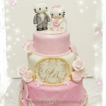 kitty wedding cake