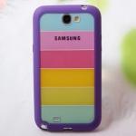 Case Samsung Galaxy Note 2 เคสขอบซิลิโคนด้านหลังใสสีรุ้ง สวยๆ เคสมือถือราคาถูกขายปลีกขายส่ง
