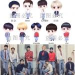 หมอนตุ๊กตา EXO (ระบุศิลปินช่องหมายเหตุ)