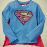 GP108 baby Gap เสื้อผ้าเด็ก เสื้อยืดแขนยาว เนื้อนุ่ม สีฟ้า สกรีนโลโก้ Superman เหลือ Size 18M/2Y