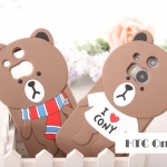 เคส HTC One M8 ซิลิโคนหมีบราวน์สติ๊กเกอร์ไลน์ สุดฮิต เคสมือถือ ขายปลีก ขายส่ง ราคาถูก