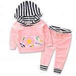 เสื้อ+กางเกง สีชมพู 16525 แพ็ค 4 ชุด ไซส์ 70-80-90-100