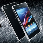 เคส Sony Xperia Z1 : Ultra-thin 0.7mm Metal Bumper Aluminum case