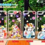 Case iPhone 6s / iPhone 6 (4.7 นิ้ว) พลาสติกโปร่งใสด้านในมีกากเพชลายการ์ตูนเจ้าหญิงแสนงดงาม ราคาถูก