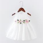 ชุดกระโปรง สีขาว แพ็ค 3ชุด ไซส์ 100-110-120