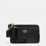 Preorder COACH MADISON DOUBLE ZIP WRISTLET IN LEATHER Style No: 51928