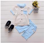 เสื้อ+กางเกง สีกากี แพ็ค 4ชุด ไซส์ 80-90-100-110
