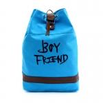 กระเป๋าเป้แบบผ้า BOYFRIEND (สีฟ้า)