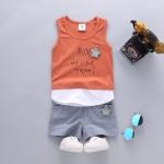 ชุดเซตเสื้อกล้าม MOM สีส้มอิฐ [size 6m-1y-2y-3y]