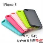 case iphone 5 เคสไอโฟน5 เคส TPU สีพื้นเงามีหลายสี candy color TPU non-slip