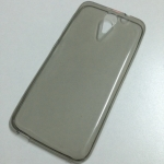 เคสนิ่มใส (หนา 0.3 mm) HTC Desire 620G สีเทา