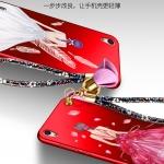 เคส Huawei Ascend P7 พลาสติกลายผู้หญิงแสนสวย พร้อมที่คล้องมือ สวยมากๆ ราคาถูก