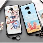 เคส Huawei GR5 พลาสติก TPU ยืดหยุ่นได้สกรีนลายน่ารักมากๆ + แหวนที่ตั้งและสายคล้อง ราคาถูก