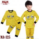 ชุดนอน แขนขายาว MA-325 แพ็ค 6ชุด ไซส์ 2T, 3T, 4T, 5T, 6T, 7T
