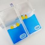 Case OPPO R7 Lite / R7 พลาสติกการ์ตูนเป็ดน้อยลอยน้ำ สีใสด้านในน้ำสีฟ้าน่ารักมากๆ ราคาถูก