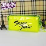 กระเป๋าดินสอเรืองแสง SUPER JUNIOR SJ สีเหลือง