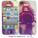 film iphone 4/4s ฟิล์มกันรอยไอโฟน4/4s ฟิล์มกันรอยหน้าหลัง ลายวินเทจ ลายการ์ตูนน่ารักๆ