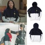 เสื้อฮู้ด (Hoodie) สีทูโทน แบบ Kim Go Eun ในซีรี่ย์ Goblin