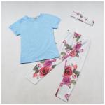 เสื้อ+กางเกง 16206 สีฟ้า แพ็ค 4 ชุด ไซส์ 70-80-90-100(เลือกไซส์ได้)