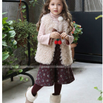 pink ideal เสื้อกั๊ก สีแอปริคอท แพ็ค 5 ชุด ไซส์ 110-120-130-140-150