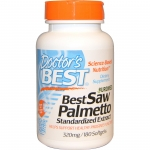 Doctor's Best, Best Saw Palmetto, Standardized Extract, 320 mg, 180 เม็ดเจล