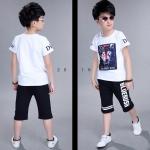 เสื้อ+กางเกง สีขาว แพ็ค 5 ชุด ไซส์ 120-130-140-150-160