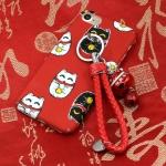 Case iPhone 7 Plus (5.5 นิ้ว) พลาสติก TPU ลายแมวนำโชค Lucky Neko พร้อมที่ห้อยเข้าชุดน่ารักๆ ราคาถูก