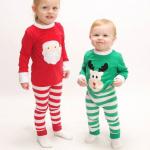 เสื้อ+กางเกง คริสต์มาส 16298 สีเขียว แพ็ค 5 ชุด ไซส์ 90-100-110-120-130(เลือกไซส์ได้)