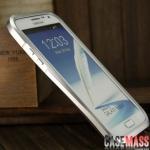 เคส Note 2 Case Samsung Galaxy Note 2 II N7100 ขอบเคส bumper โลหะอลูมิเนียมอัลลอยน้ำหนักเบา ทรงเว้า แยกประกอบ 2 ชิ้น ไขน๊อตเชื่อมต่อ สลับสี สวยๆ two-color waistline metal border exclusive debut Beautiful appearance and extraordinary achievements classic A