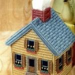 ชุดปักแผ่นเฟรมกล่องทิชชูลายบ้าน Cottage