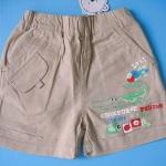 EX108 Brown Bear Baby เสื้อผ้าเด็กชาย กางเกงขาสั้น สีกากี CROKEURdE 100% Cotton Size 70