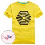 เสื้อยืดแฟชั่น Exo Overdose LOGO สีเหลือง