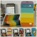 Case Samsung Galaxy Mega 5.8 เคสฝาพับหนัง TPU ลายการตูนน่ารักๆ ลายอาร์ตๆ สวยๆ เคสมือถือขายปลีกขายส่งราคาถูก