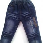 J1015 กางเกงยีนส์เด็กชาย ดีไซส์ลายปักเท่ห์ทั้งด้านหน้า-หลัง เอวยางยืด Size 3-5 ขวบ ขายปลีกในราคาส่งให้เลยจ้า