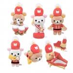 San-X Rilakkuma 10th Anniversary Miniature Collection เซ็ตตุ๊กตาหมีรีแลคคุมะ โคริแลคคุมะ คิอิโระอิโทะริ ฉลองครบรอบ 10 ปี ( SET 6 ชิ้น)