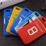 เคสไอโฟน5 case iphone 5s ซิลิโคนเสื้อทีมชาติฟุตบอล สุดแนว น่าใช้มากๆ มีทีมชาติอังกฤษ, Argentina, BRAZIL, ITALY, GERMANY