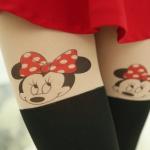[พร้อมส่ง] P3062 ถุงน่องลายมินนี่เม้าส์ Minnie Mouse