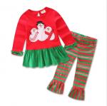 เสื้อ+กางเกง คริสต์มาส 16290 สีแดง แพ็ค 5 ชุด ไซส์ 80-90-100-110-120 (เลือกไซส์ได้)