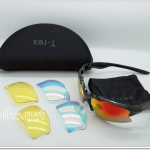แว่นตา T-Rex Cycling Eyewear Sunglasses UV400 2 Lens Sport Polarized Goggles