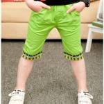 กางเกง สีเขียว แพค 5 ตัว ไซส์ 100-110-120-130-140