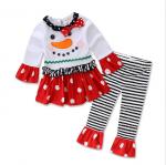 เสื้อ+กางเกง คริสต์มาส 16289 สีขาว แพ็ค 5 ชุด ไซส์ 80-90-100-110-120 (เลือกไซส์ได้)