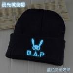 หมวกเรืองแสง B.A.P สีดำ