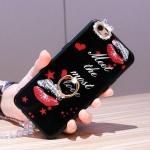 เคส OPPO R9s พลาสติก TPU กากเพชรลายดอกไม้สุดหรู พร้อมแหวนที่ตั้งในตัว ราคาถูก (ไม่รวมสายคล้อง)