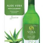 น้ำว่านหางจระเข้ S Vera Plus S Vera Aloe Juice เครื่องดื่มน้ำว่านหางจระเข้