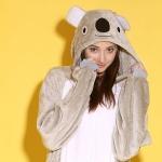 ชุดแฟนซีสัตว์หมีโคล่า+รองเท้าการ์ตูน
