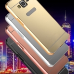 เคส Samsung Galaxy J3 ขอบเคสโลหะ Bumper + พร้อมแผ่นฝาหลังเงางามสวยจับตา ราคาถูก